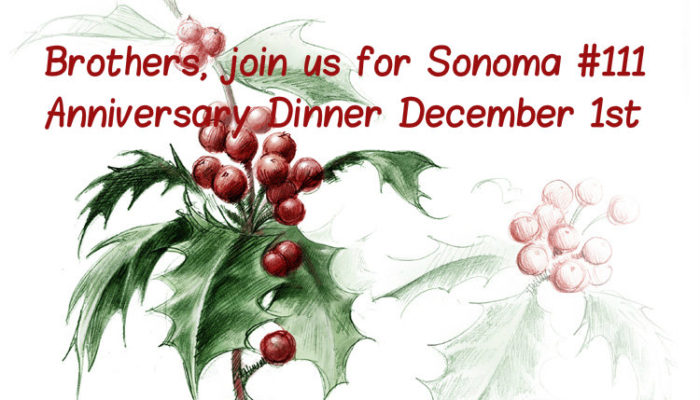 Anniversary Dinner – Take the night off, and enjoy good food, and friends